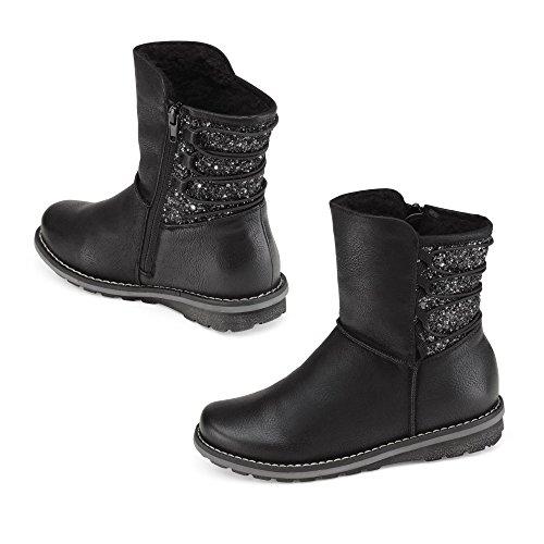 Rieker chausson K0284-01 noir, Gr. 33-37, doublure chaude schwarz