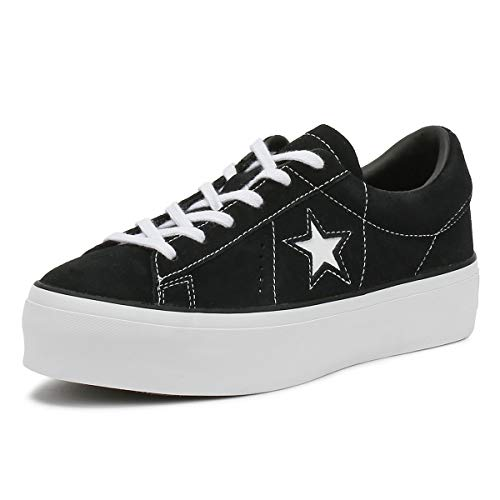 791c4a0915fd Converse One Star Platform Black Black White - 6 UK