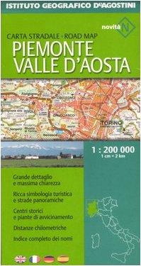 Piemonte, Valle D'Aosta 1:200.000. Ediz. multilingue (Carte stradali regionali d'Italia)