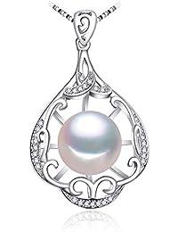 9eb5d8982a21 KNY Collares Joyas De Perlas Colgante De Perlas Naturalescollar De Plata De  Ley Joyería De Las