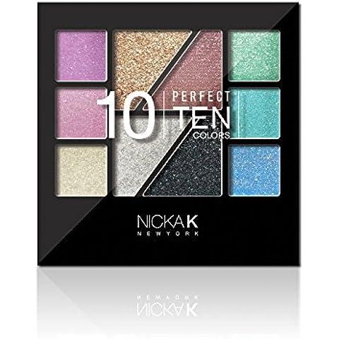 Nicka K NUEVA YORK AP021 Lidschatten Paleta Perfect Ten, Paquete 1er (1 x 1 Pieza)