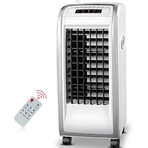 HX Klimaanlage FJZ-Lüfter/Luftkühler/Heizgeräte/Fernbedienung Heizen und Kühlen Dual-Use-Lüfter for Mobile Klimaanlagen Klimaanlage, Haushaltsklimaventilator, tragbare Kl (Color : Silver)