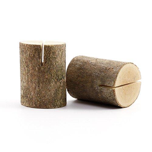 50 x Holz Holzsteg Kartenhalter Platzkarte Tischkartenhalter Namesschild Fotohalter Hochzeit Deko - 7