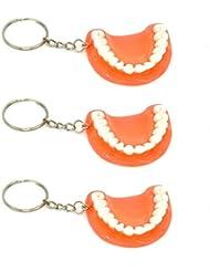 3x dentition Porte-clés 3dents troisième Porte-clés Dentiste