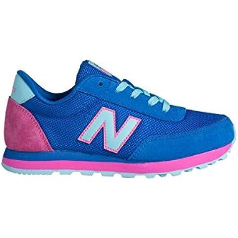 New Balance KL501OBY - Zapatillas deportivas para niña, color azul / rosa / blanco, talla 40