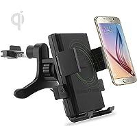 Fone-Case White HTC 10 Mini (Pack) Qi Wireless In-Car Air Vent caricatore supporto del supporto del telefono cellulare Car Holder stand e senza fili Qi ricarica della carta della ricevente Port Adapter