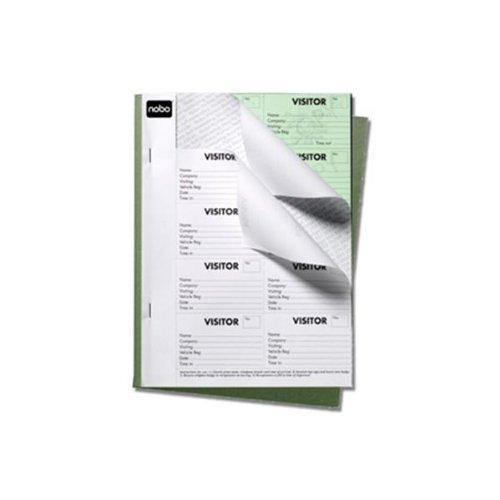 Preisvergleich Produktbild Nobo Besucher Badge Book Schwarz, 25Blatt