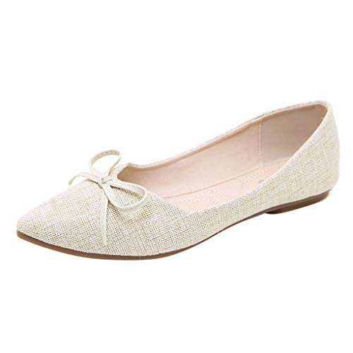 Makefortune 2019 Spring Single Schuhe Bow Soft Bottom Shallow Mouth Flat ShoesSingle Shoes Wild Ladies -