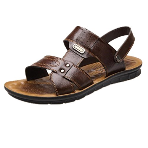 SHUNLIU Herren Touch Sport Sandalen Outdoor Schuhe Sandaletten Braun