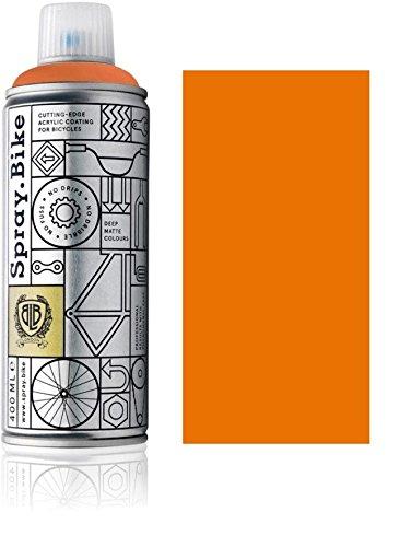 """Fahrrad Lackspray in versch. Farben - KEINE GRUNDIERUNG notwendig - Acryllack / Lack Spray in 400 ml Spraydose, Matt- und Klarlack Optik möglich (Orange \""""Meise Orange\"""", Matt)"""