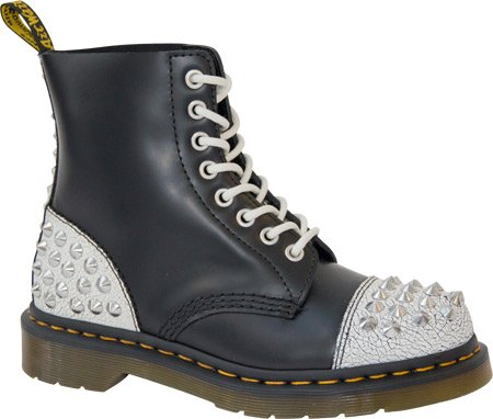 Dr Martens  Dai Smooth Tartan Leather,  Stivali donna White / Black