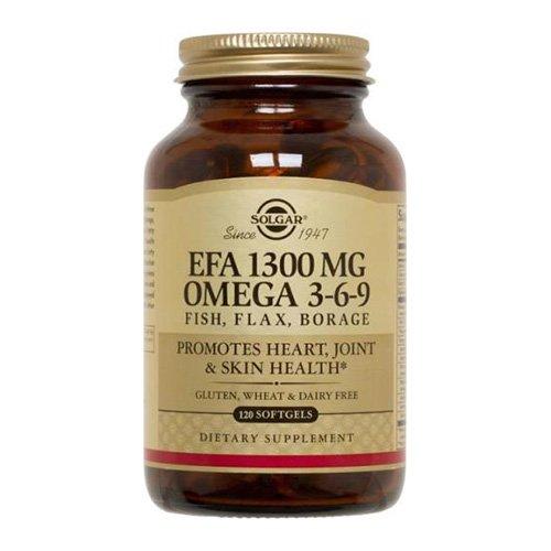 Solgar, EFA, Omega 3-6-9, 1300mg, 120 Weichkapseln (Leinsamen-borretsch-Öle)