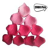 Rosenblätter künstlich 5.5cm für Hochzeit Feier Deko,Valentinstag Romatische Rosenblüten Blumenkinder 2000 Stück(rosa+rot)