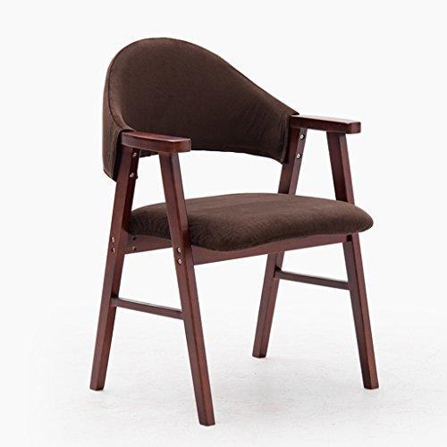 ALUK - High stools/Folding chairs Jane Reduktion von Massivholz Esszimmerstuhl Studie Stuhl Mode Armlehne Massivholz Lounge Chair Continental Zurück Esszimmerstuhl Barhocker/Tischhocker (Farbe : B) - Zurück Massivholz
