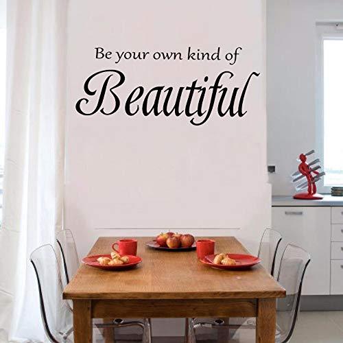 yiyiyaya Seien Sie Ihre eigene Art von schönen Zitate Schlafzimmer Wandtattoo PVC Wandaufkleber59 * 26cm