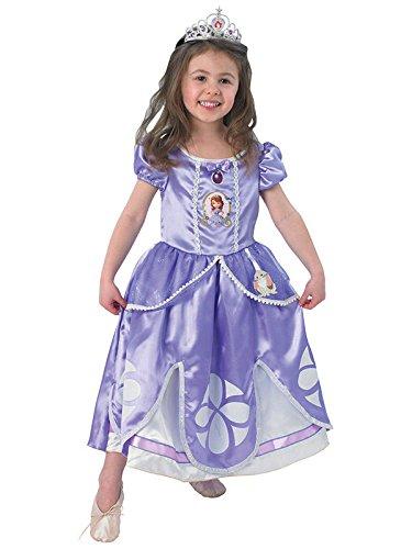 Sofia Disney Deluxe Kinderkostüm Prinzessin Lizenzware flieder M (Deluxe Prinzessin Sofia Kostüme)