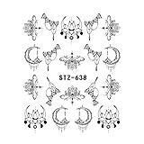 Abstrakt Nail Sticker Tatoos Einfache DIY Blumen-Mond-Herz-Nagel-Übertragung Aufkleber Maniküre Wraps
