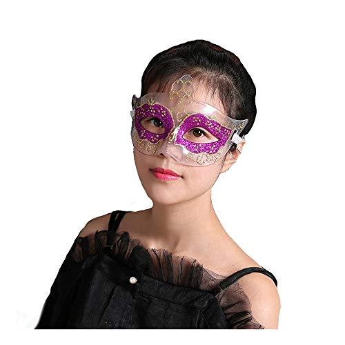SCLMJ Halloween Party Maske Transparent Pailletten Halbgesichtsmaske Kostüm Party, A