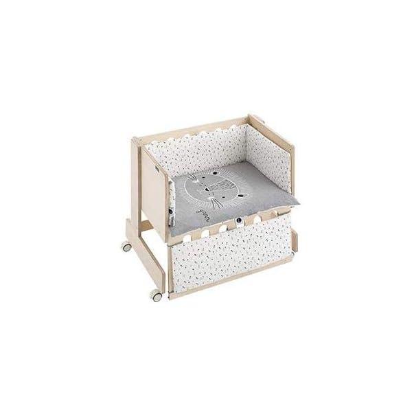 Bimbi Mini Cot Bimbi Casual baby bedroom. Cot bedroom. Natural mini bedspread 1