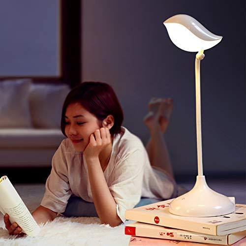 ampe mit Bluetooth-Lautsprecher von Songbird, tragbar, Nachttischlampe mit dimmbarem Tischlampe, Nachtlicht, Abblendlicht, Freisprechfunktion Free Size weiß ()