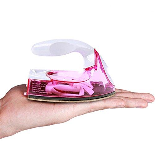 Mini Crafting Iron Reiseeisen Kompakt Trinkbar Kann In Die Handtasche Gesteckt Werden,Clear-pink