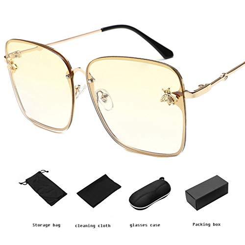 YANGPEI Polarisierte Sonnenbrille Frauen & Einfachen Stil GroßEn Rahmen Sonnenbrille & Frauen,B