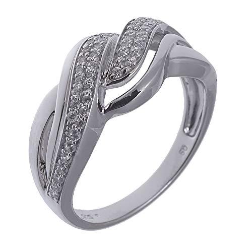 il Ring mit Zirkonia 925 Sterling Silber rhodiniet 64/20.4 ()