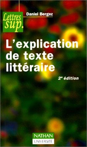 L'explication de texte littéraire, 2e édition