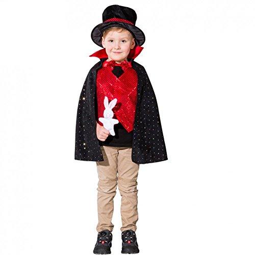 Kinder Kostüm Merlin - Kinderkostüm Zauberer Gr. 140 Hokuspokus Magier Zirkus Fasching Kleinkunst