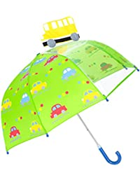 Parapluie pour Enfant, Rainbrace Garçon Fille Avec Une Fenêtre Transparente