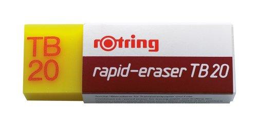 Rotring S0194611 TB 20 Tusche-/Bleiradierer, Polyvinylchlorid, 24 x 14 x 65 mm
