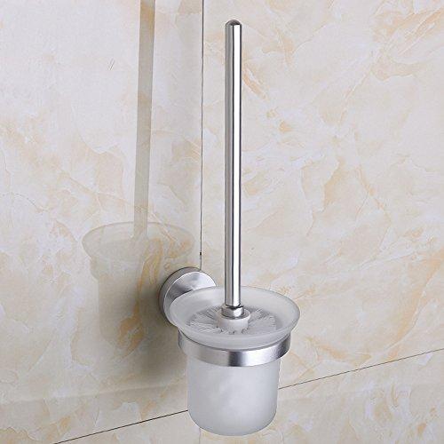 AGOAIX Bereich Aluminium Badezimmer Hardware Anhänger Wc Bürste Rack Badezimmer Anhänger Feste Karte Dicke Toilette Rack, Toilette Bürste Rack 939511