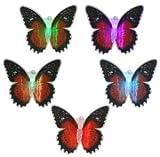 LED Deko-Schmetterling/ mit farbigen Wechsellicht / Größe: 7,5cm