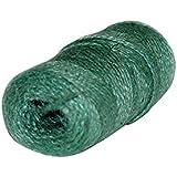 Xclou Tuintouw in groen, katoenen garen, jute lint om vast te binden, binddraad koord van jute, tuinband voor binnen en buite