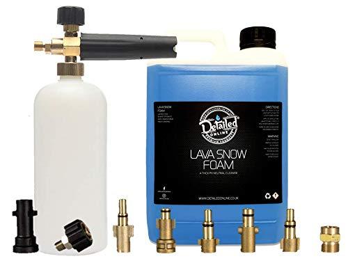 DetailedOnline Schneeschaum-Lanze + 2,5 l Bubblegum Lava Schneeschaum - passend für alle Hochdruckreiniger