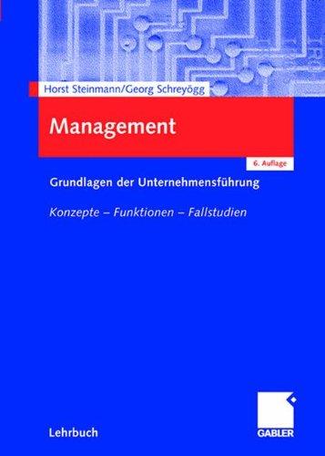 Gabler Verlag Management. Grundlagen der Unternehmensführung