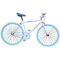 Helliot Bikes Fixie Soho H02 - Bicicleta Urbana, Color Blanco/Azul, Talla única