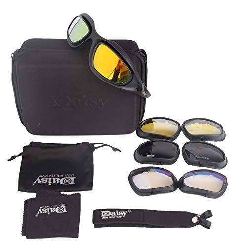 EUCoo EUCoo Sonnenbrillen Im Freien Taktik Spiel Brille Reiten Brille Winddicht Outdoor Sport Brille 4 Objektiv Set
