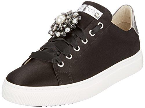 31566e7edd6f Stokton Damen Sneaker Schwarz (Black Silver) 42 EU