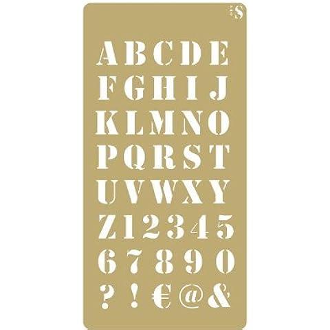 Stencil Deco Scrapbooking 059 Abc Industrial. Medidas aproximadas: Medida exterior del stencil: 10 x 20 cm Medida del diseño:8 x 16