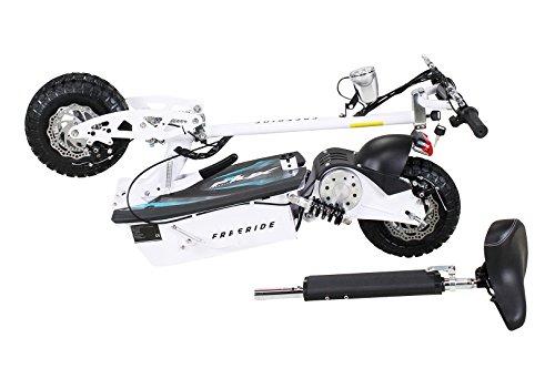 E-Scooter Roller Original E-Flux Freeride 1000 Watt 48 V mit Licht und Freilauf Elektroroller E-Roller in vielen Farben (weiß) - 3