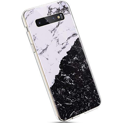 Ysimee Marmor Hülle kompatibel mit Samsung Galaxy S10 Plus, Ultra Dünn Soft Silikon Schutzhülle Marble Anti-Shock Kratzfeste Handyhülle Weiche Handytasche Marmor Schale Bumper Hülle, Marble #8