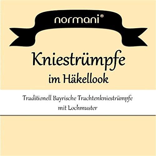 normani 3 Paar Dirndl-Kniestrümpfe Häkellook Größe 39-42 - 2