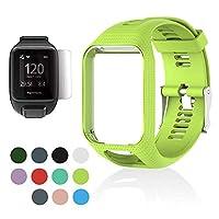 Volwco Voor TomTom Horlogeband, Siliconen Vervangende Band Sport Armband Polsband voor TomTom Runner 2 3/Spark 3/Golfer 2/Adventurer