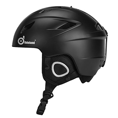 Snow Helm Set mit Skibrille, Unisex Snow Sport Helm & Schutzbrillen für Männer & Frauen, Shockproof & Universal Fit, Schutzhelm & Schutzbrillen für Skifahren Skating Snowboarden (Helm, XL)