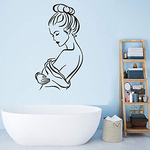 ZRSCL Classic massage Wall Art Decal Decoration Fashion Sticker Removable Wall Sticker Decoration Accessories57cmx31cm