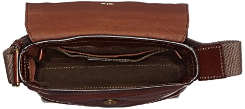 The Bridge Sfoderata Luxe Uomo Sac bandouliére I cuir 22 cm Braun (Brown 14)
