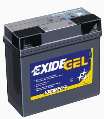 707.26.550 - EXIDE GEL G19 - Batteria al gel, senza manutenzione, compatibile con: BMW, ved. elenco veico