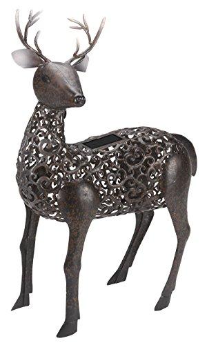 Skultpur: Silhouette eines Hirsch, beleuchtet, für Garten, Skulptur (Solar)