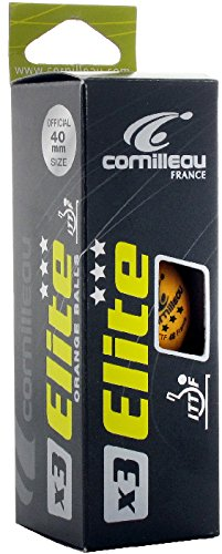 CORNILLEAU ITTF Elite Palline da Ping Pong (Confezione da 3), Arancione